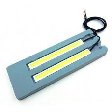 LED Daytime Running Lights (14cm, Silver White Casing)