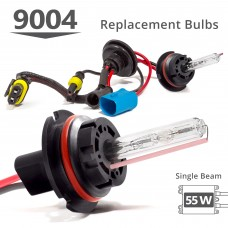 55W HID 9004 (HB1) Single Beam AC Replacement Bulbs