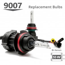 55W HID 9007 (HB5) Bi-Xenon AC Replacement Bulbs