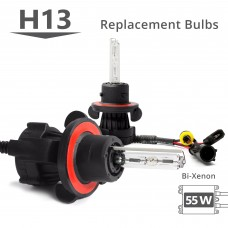 55W HID H13 (9008) Bi-Xenon AC Replacement Bulbs