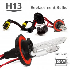 55W HID H13 (9008) Low Xenon/High Halogen AC Replacement Bulbs