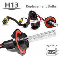 55W HID H13 (9008) Single Beam AC Replacement Bulbs