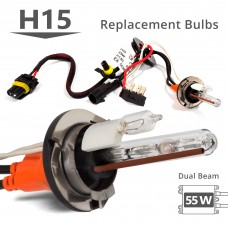55W HID H15 High Xenon/DRL Halogen AC Replacement Bulbs