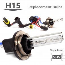 55W HID H15 Single Beam AC Replacement Bulbs