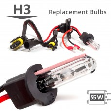 55W HID H3 AC Replacement Bulbs