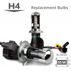 55W HID H4 (HB2) (9003) Bi-Xenon AC Replacement Bulbs